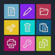 Document web icons set 1, color buttons