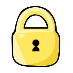 Padlock isolated illustration