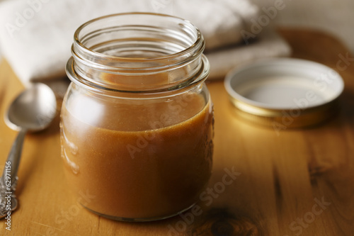 caramel sauce in the pot