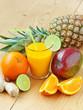 Fresh tropical fruit juice