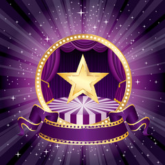 gold star purple circle