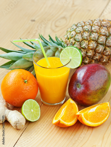 Fresh tropical fruit juice