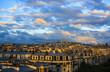 Paris at Sunset, aerial view
