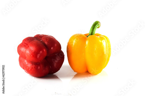 capsicum red and  yellow  spicy cook