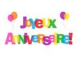 """Carte """"JOYEUX ANNIVERSAIRE"""" (fête voeux amis félicitations joie)"""