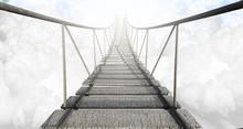 Most linowy nad chmurami