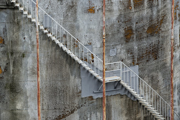 harbour silo rugged stairway
