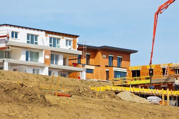 Neubau von Einfamilienhäusern