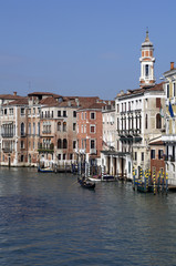 Houses and Buildings in water of Venice Grand Channel