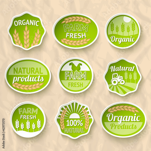 Farming harvesting and agriculture stickers