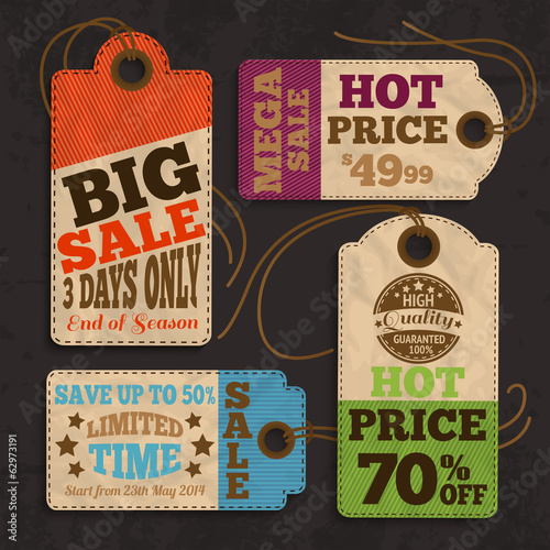Shopping labels and tags collection