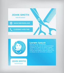 Business card. Hairdresser.