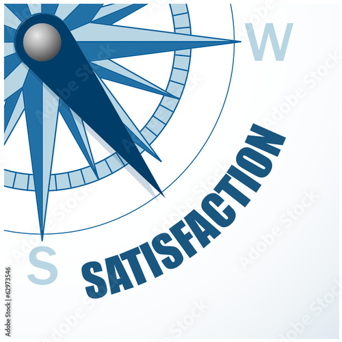 COMPASS pointing to SATISFACTION (icon symbol customer client)