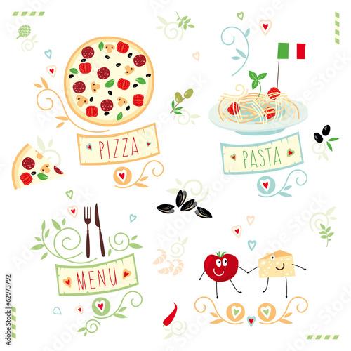 Italian cuisine,  set of illustration © Anastasia Albrecht