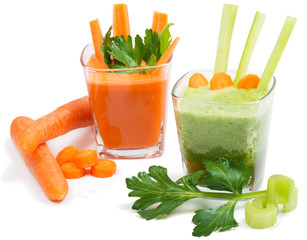 juice of  celery and carrot