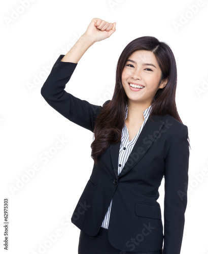 Cheerful asia businesswoman