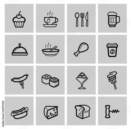 vector food icons set