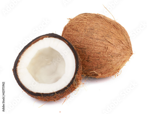 coconut on white
