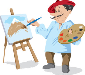 Traditional painter