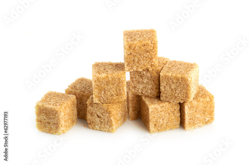 Brown cane sugar cubes