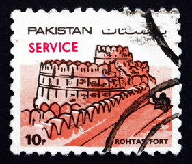 Postage stamp Pakistan 1984 Rohtas Fort
