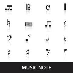 music note icons eps10