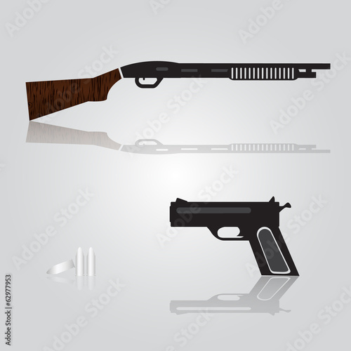pistol and shotgun weapons eps10