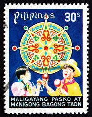 Postage stamp Philippines 1977 Children Celebrating, Christmas