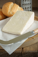 Caerphilly a traditional hard white cheese from South Wales