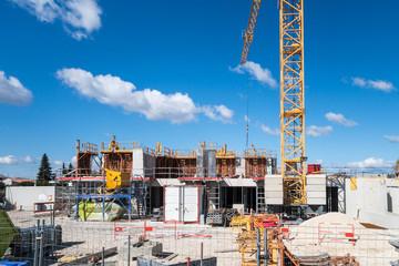 Travaux de construction immeuble