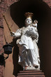 Madonna with child Jesus, Statue on the street of Miltenberg