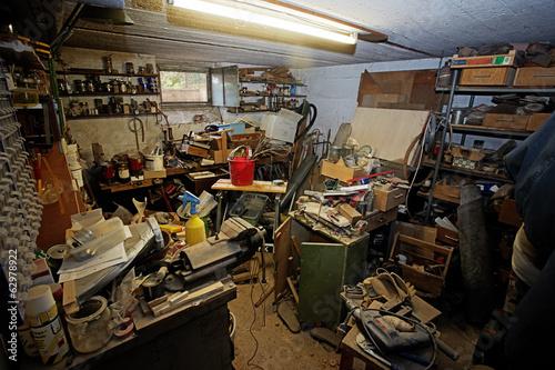 Leinwanddruck Bild messy workshop