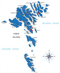 Faeroe Islands map