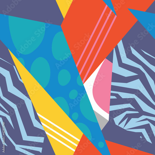 Seamless colorful abstract geometry background