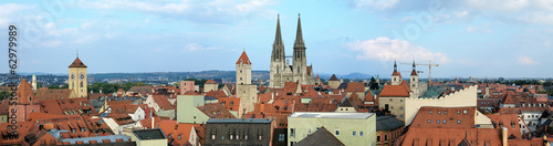 Panorama of Regensburg, Germany