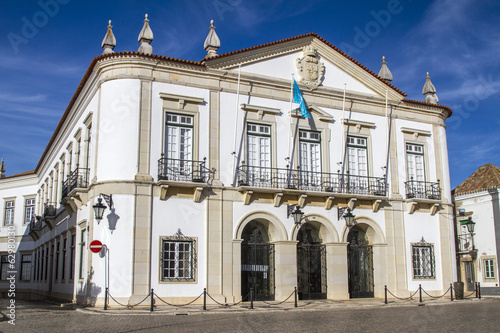 View of beautiful city hall building located in Faro, Portugal.