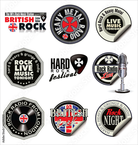 Rock music labels