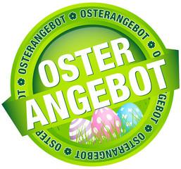 """Button Banner """"Osterangebot"""" Ostereier grün/pastell"""