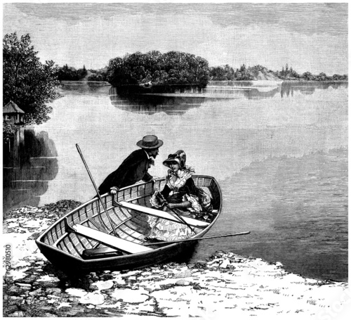 Boating - end 19th century