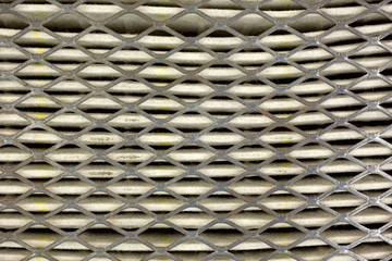Close view of air filter for car