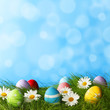 canvas print picture - Easter Greeting Card