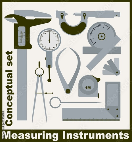 Measuring instruments,  conceptual vector set