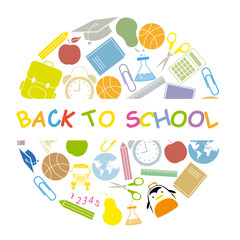 back to school  school icons