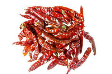dried Chilli isolated on white background