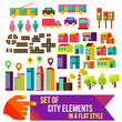 Set of city infographics in a flat style. Flat vector - 62981553