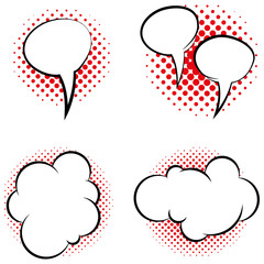 Set Of Different Comic Book Bubbles Isolated