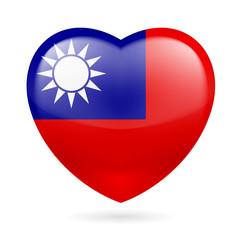 Heart icon of Taiwan