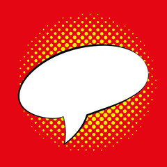 Speech Bubble Isolated On Background Template