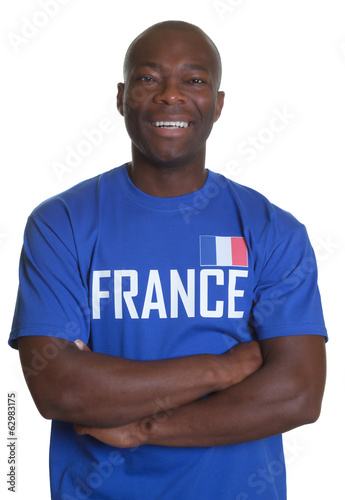 French sports fan with crossed arms