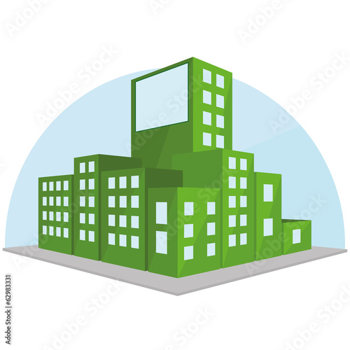 Editable Stylish Abstract Building Illustration Isolated